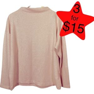 3/$15 Uniqlo Soufflé Mock Long Sleeve Sweater